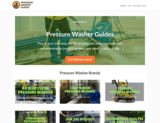 pressurewasherguides.com screenshot