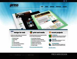 presswebdesign.com screenshot