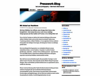 presswork.wordpress.com screenshot