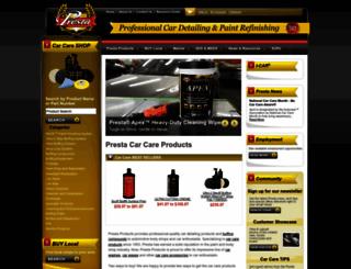 prestaproducts.com screenshot