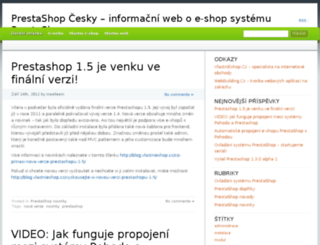 prestashop-cesky.cz screenshot