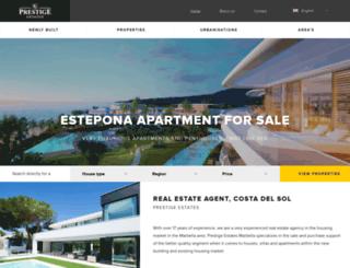 prestige-estates.com screenshot