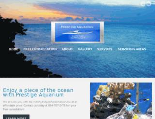 prestigeaquarium.com screenshot