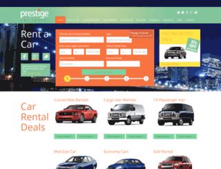 prestigecarrental.com screenshot