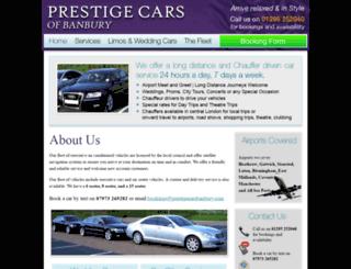 prestigecarsbanbury.com screenshot