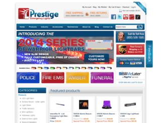 prestigeemergencylights.com screenshot
