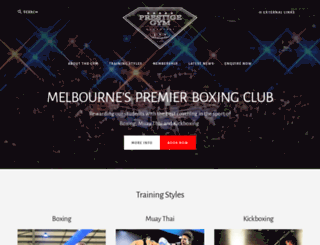 prestigegym.com.au screenshot