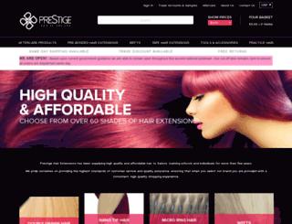 prestigehairextensions.co.uk screenshot