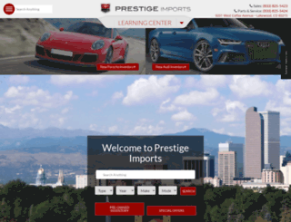 prestigeimports.net screenshot