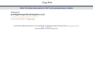 prestigekewgardensbangalore.co.in screenshot
