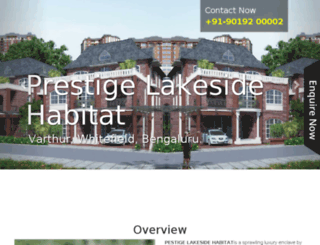 prestigelakesidehabitat.call-now.co.in screenshot