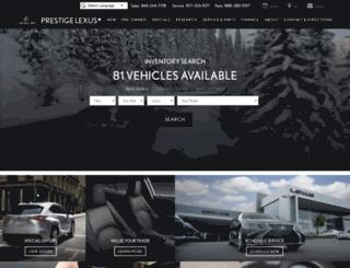 prestigelexus.com screenshot