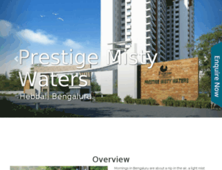 prestigemistywaters.call-now.co.in screenshot