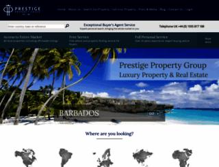 prestigeproperty.co.uk screenshot