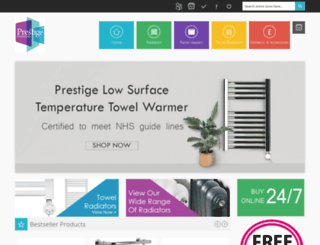 prestigeradiators.co.uk screenshot