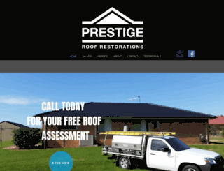 prestigeroof.com.au screenshot