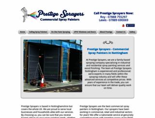 prestigesprayers.co.uk screenshot