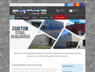 prestigesteelbuildings.ca screenshot