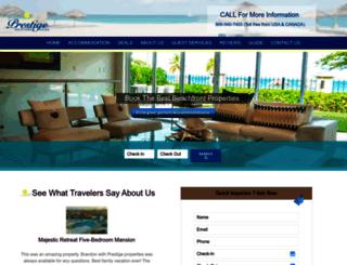 prestigevacationsaruba.com screenshot