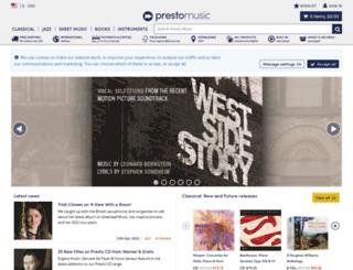 prestoclassical.com screenshot