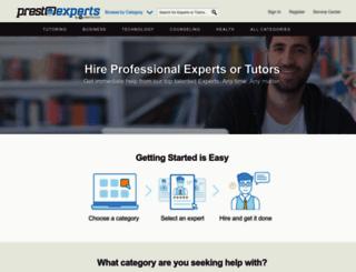 prestoexperts.com screenshot