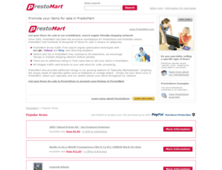 prestomart.com screenshot