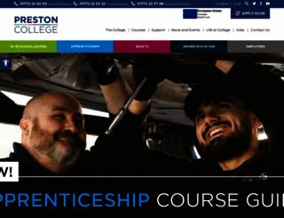 preston.ac.uk screenshot