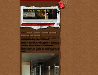 prestoservices.fr screenshot