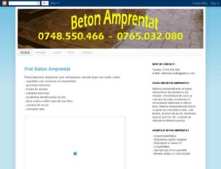 pret-beton-amprentat.blogspot.com screenshot