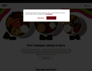 pret.com screenshot