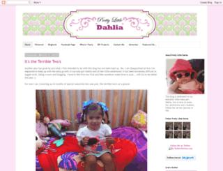 prettylittledahlia.com screenshot
