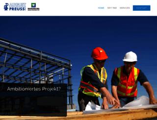 preuss-stahlbau.de screenshot