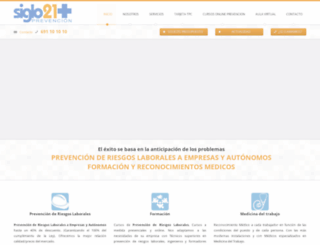prevencionsiglo21.com screenshot