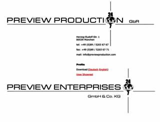 previewproduction.com screenshot