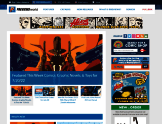 previewsworld.com screenshot