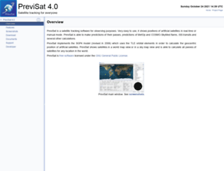 previsat.sourceforge.net screenshot