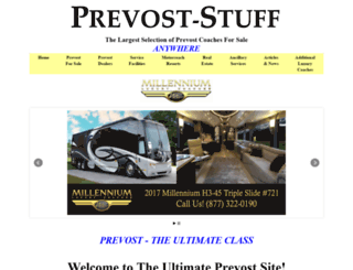 prevost-stuff.com screenshot