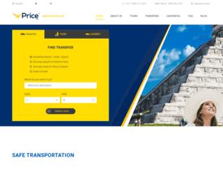 priceairportshuttle.com screenshot