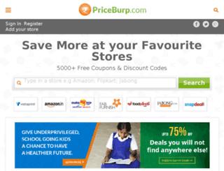 priceburp.in screenshot