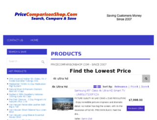 pricecomparisonshop.com screenshot