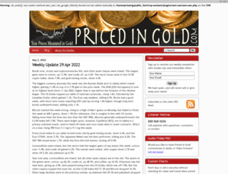 pricedingold.com screenshot