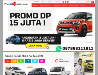 pricelistsuzuki.com screenshot
