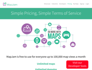 pricing.mapjam.com screenshot