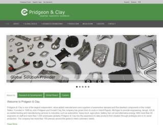 pridgeonandclay.com screenshot