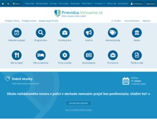 prievidza.virtualne.sk screenshot