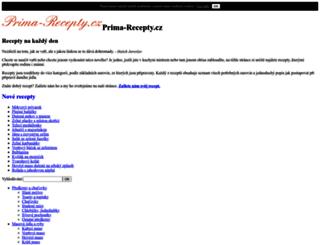 prima-recepty.cz screenshot