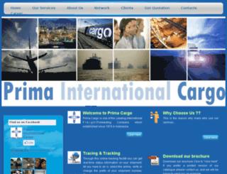 primacargo-logistics.com screenshot