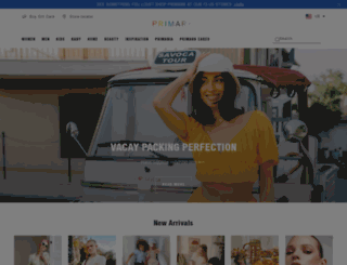 primark.com screenshot