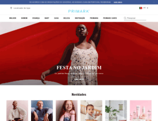 primark.pt screenshot