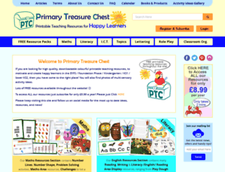primarytreasurechest.com screenshot